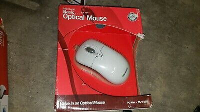New Vintage Microsoft Wheel Mouse PS/2 Port for Windows PC