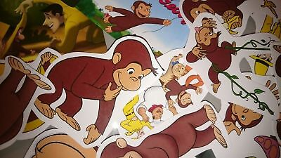 CURIOUS GEORGE  party bag fillers 40 a6 stickers 20 mini magnets ()
