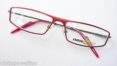 New Eyes fetzig rote Fassung Metall Gestell Rahmen Halbbrille Flexbügel Grösse M
