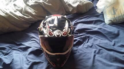 THH Vegas Evil Joker Dirtbike Helmet XL Size
