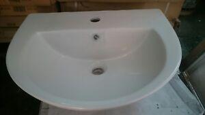 Shires Bathroom Sink Basin 1 Tap Hole - Sorrento  55x47