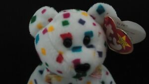 27adc94df5e Ty 2K Beanie Baby New Years Eve Teddy Bear  Mint Condition  Extremely Rare