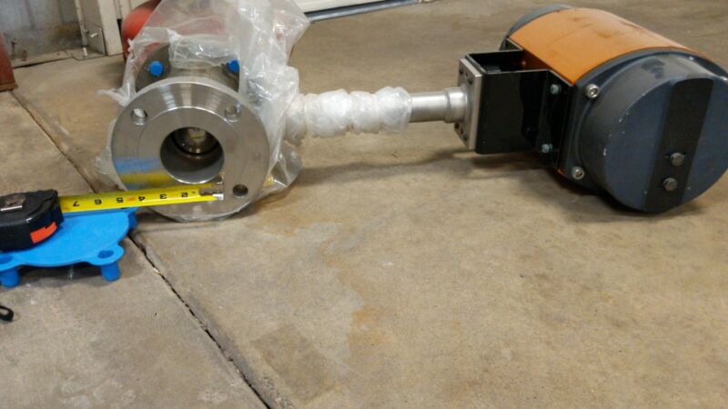 """3"""" Worcester Cryogenic Flanged Ball Valve w/ Flowserve F39 Actuator 150lb flange"""