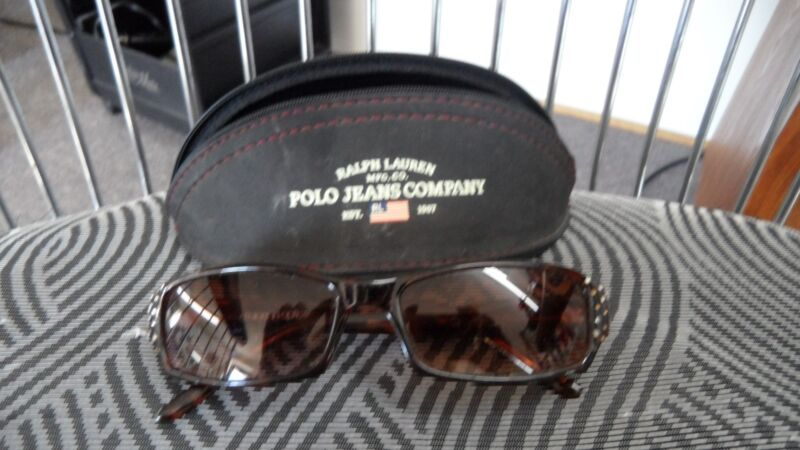 Ralph Lauren Polo Jeans Co Black  Zip Case  Steve Madden Tortoise Sunglasses