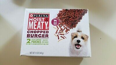 Brand Purina Moist & Meaty Dry Dog Food, Chopped Burger 2 ct. Pouch