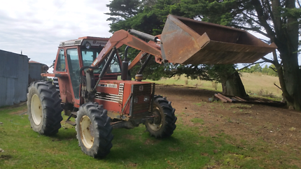 fiat 4wd tractor front end loader