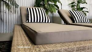 OUTDOOR sun pool lounge bed premium fabric & cushions XL frame