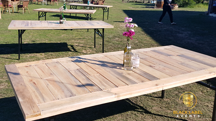 WOODEN Table & Chair HIRE Perth