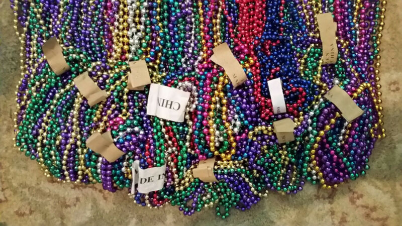 10 lbs Mardi Gras Beads Necklaces Huge Lot XLG XLong