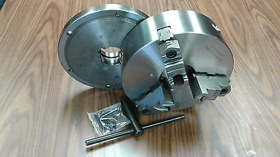 10 3-jaw Self-centering Lathe Chuck Topbottom Jaws W. L00 Back Adapter Plate