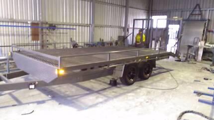 NEW H/DUTY 4.5TON 5.5MX2.5M BEAVER TAIL PLANT MACHINERY TRAILER