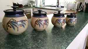 Set of four  stone look alike canister s Merrimac Gold Coast City Preview