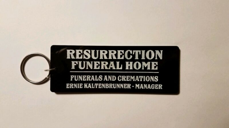 Resurrection Funeral Home return of the living dead inspired keychain key chain