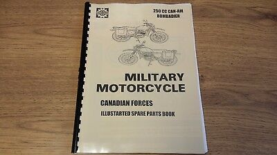 CAN-AM 250cc BOMBARDIER CANADIAN  EDN. MILITARY MOTORCYCLE PARTS MANUAL CAN08