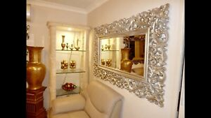 ITALIAN LARGE SILVER MIRROR IN GREAT CONDITION