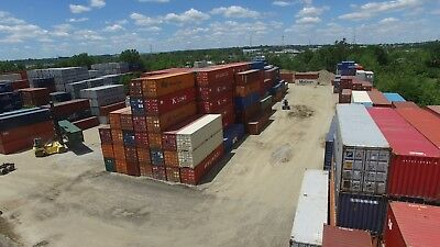 40 Footft High Cube Steel Cargo Intermodal Shipping Container Columbus Ohio