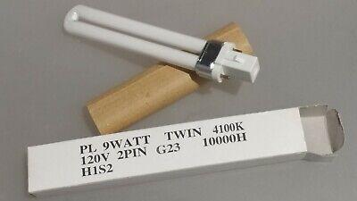 Watt Compact Fluorescent Lamp -  9 Watt 2 Pin G23 Base Twin Tube Compact Fluorescent Lamp Light Bulb
