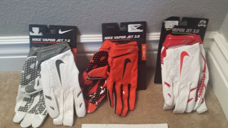 promo code d792f bd92d NIKE VAPOR JET 3.0 ADULT SKILL POSITION FOOTBALL GLOVES W  MAGNIGRIP, GF0485 ,NWT