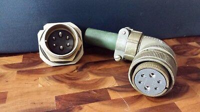 Nos Cannon 22 Amphenol Mating 6 Pin Connector Bendix 10-74722-55 Lotb19
