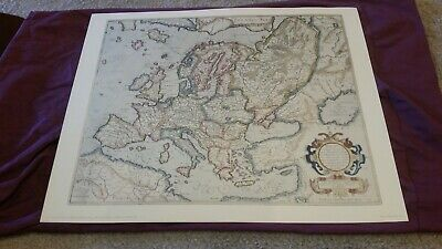 Map of Europe from Mercator Hondius Atlas 1663 Penn Prints New York reproduction