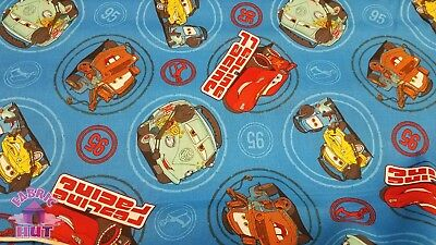 Disney Pixar Cars Fabric - Disney Pixar Cars Crew Redline Lightning Mcqueen Mater Cotton Fabric by the Yard
