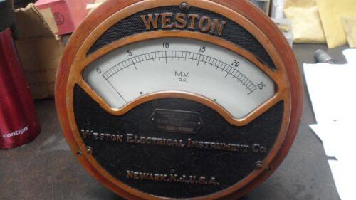 Large Antique Weston  Electrical Instrument  Meter