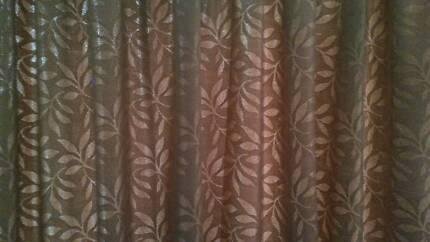 Pencil Pleat Curtains 1 Pair 80-140cm x 213cm