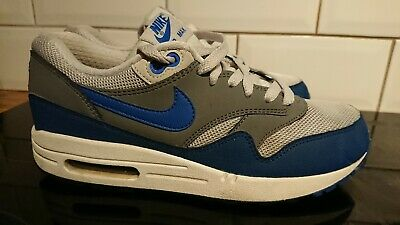 Nike Air Max 1 Essential Geyser Grey / Prize Blue 537383-040 size 6