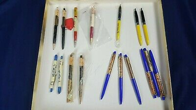 Vintage Lot 17 Planters Mr Peanut Ballpoint Pen Mechanical Pencil Erasers Good