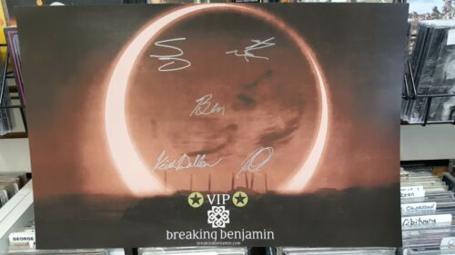 "BREAKING BENJAMIN - RARE: DARK BEFORE DAWN - ""AUTOGRAPHED"" 11X17 POSTER - NEW"