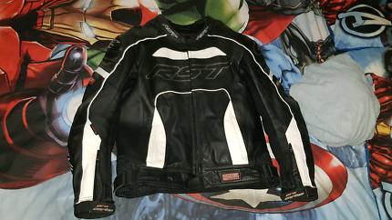 RST leather motor bike jacket