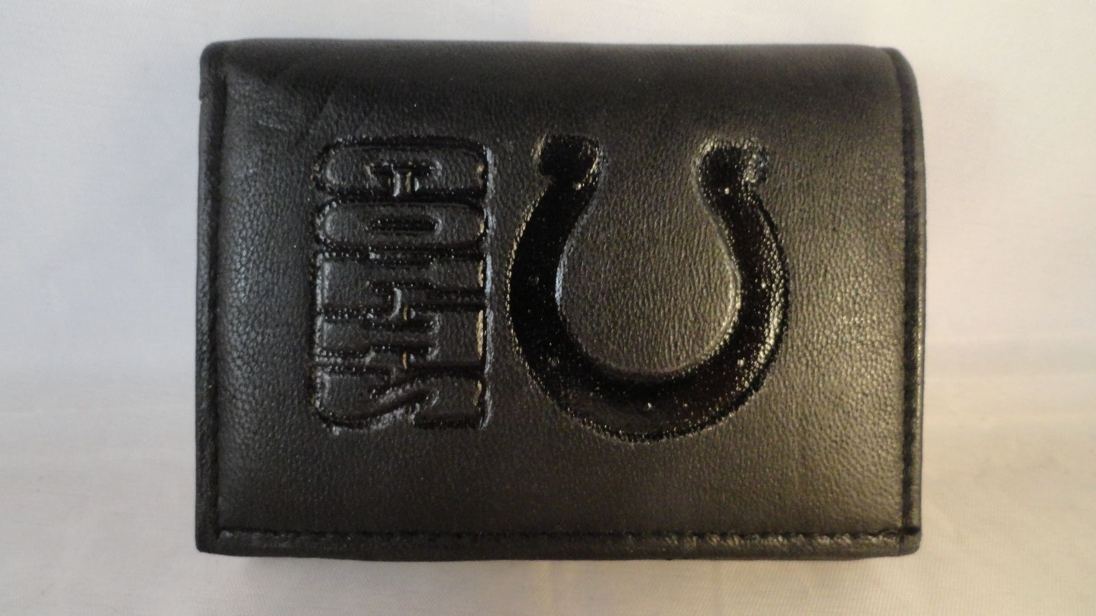 NFL Team Black Tri-Fold Leather Wallet - Choose Your Team