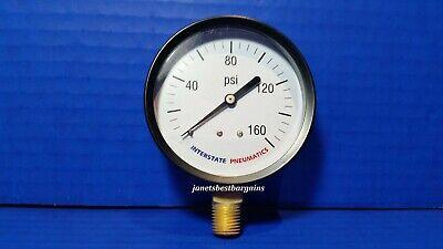 Air Compressor Pressure Gauge 14 Brass Npt Bottom Mount 160 Psi 3 Black Case
