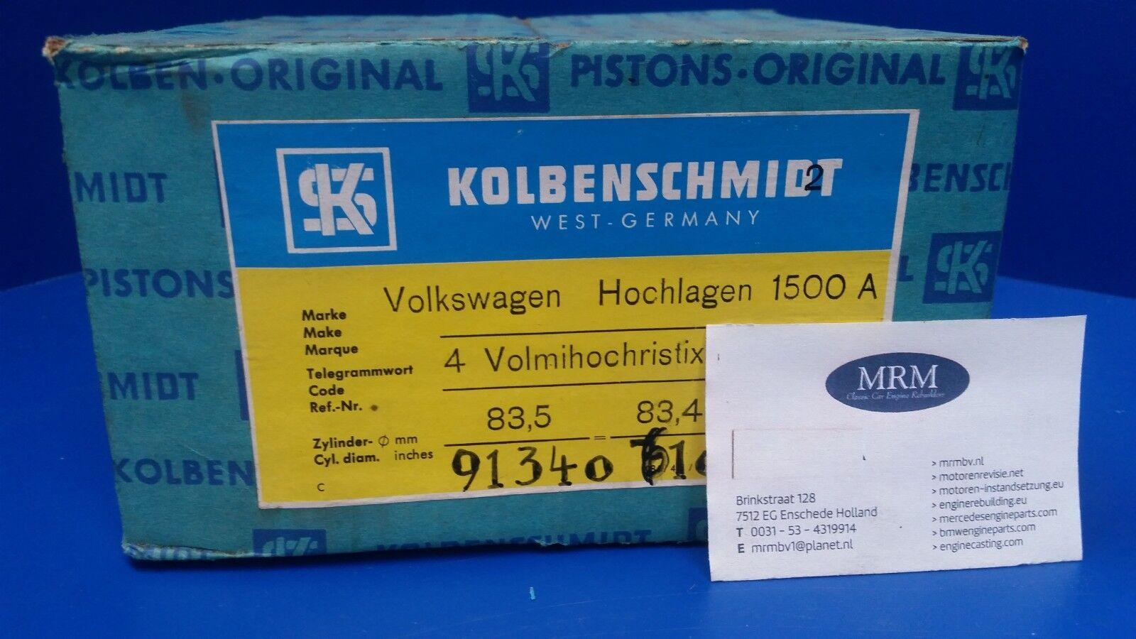 VOLKSWAGEN Motor 311 (1493cc) - 1 Piston Set KOLBENSCHMIDT (4Pcs) Size 83.5mm