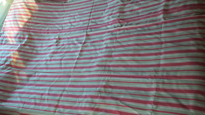 "Antique Cotton TICK FABRIC DUVET/TICK COVER  Brown,Red,Cream Stripe 64""X78"""