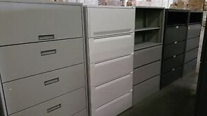 5 DRAWER LATERAL FILE CABINETS - key and local delivery available -