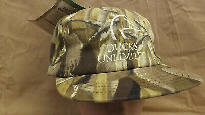 7375f8b3b Vtg NEW Realtree Wetlands Camo DU Ducks Unlimited Hat Ear Flaps Gortex  Lined MED