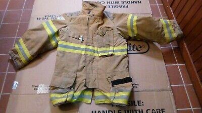 Janesvillelion Apparel Firefighters Jacket Turnout Bunker Gear Fireman Sz 3832r