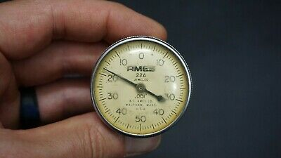 Vintage Ames 22a Jeweled .001 Dial Indicator - Made In Usa