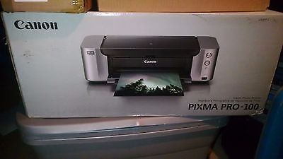 Canon Pixma Pro 100 Professional Photo Inkjet Printer With Ink And Sample Paper