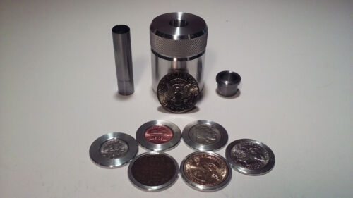 Sale! Coin Ring Center Punch for 50 Cent Piece. Your choice of punch+ 6 spacers