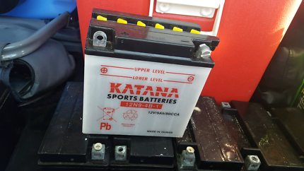 9xSSB YTx9 mc batteries. Plus 1 Katana Powersports Battery - YTX4