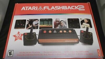 Atari Flashback2  B/W & Color TV Game Console 40 Built-In Games! W/Pong Controls