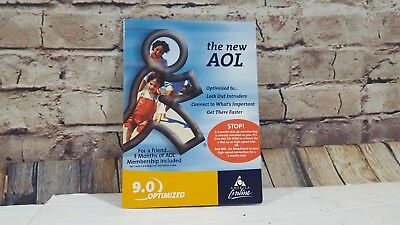 Aol America Online 9 0 Optimized Cd Sealed Collectible 3 Months Friend Trial