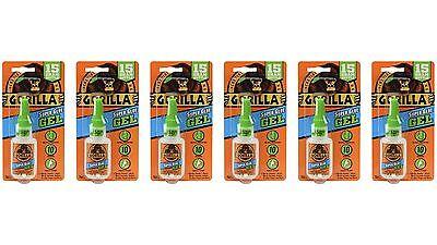Gorilla 7600101-6 Super Glue Gel 6 Pack 15 G