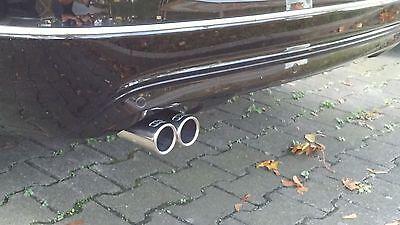 Auspuffblende Blende Endrohr Tuning Mercedes Benz CL203 CLC C-Klasse Sportcoupe