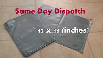 20 Strong Grey Mailing & Packaging Plastic Bags Large Size FREE POSTAGE