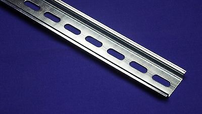 5 Pieces Din Rail Slotted Steel Rohs Compliant 35mm X 7.5mm 1 Meter