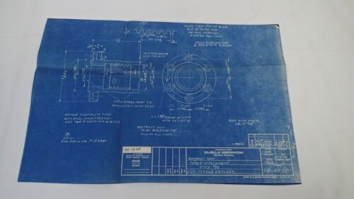 Antique Blueprint Industrial Art Detroit Automotive Ex-Cello Aircraft 1939 #9