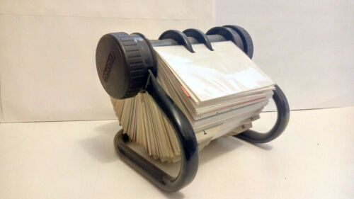 ROLODEX black frame Open Rotary Business Card File (c. 1999)